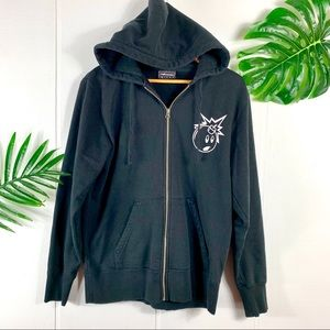 The HUNDREDS Men's Black Zip Up Hoodie Jacket M
